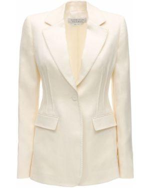 Льняной белый пиджак с карманами Gabriela Hearst