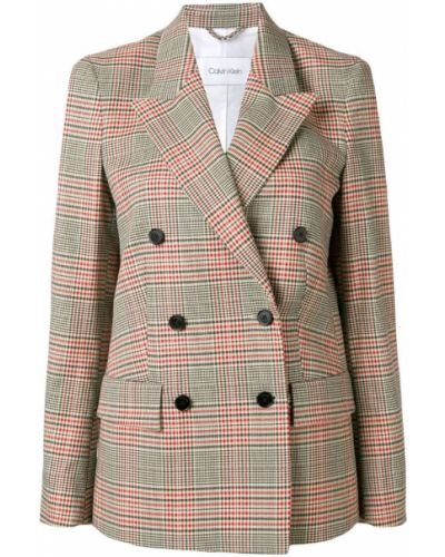 Приталенный классический пиджак с карманами квадратный Calvin Klein