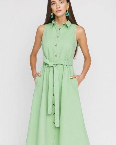 Зеленое джинсовое платье Cardo