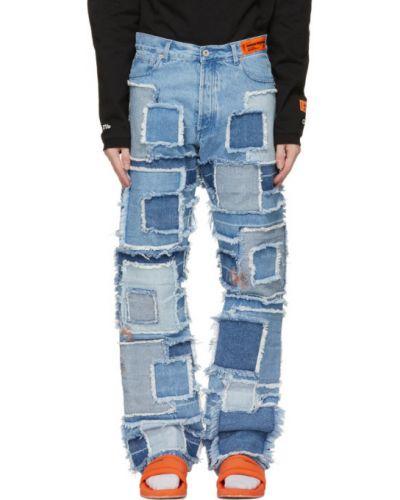 Прямые белые джинсы стрейч Heron Preston