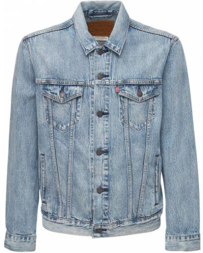 Klasyczne niebieskie jeansy zapinane na guziki Levi's Red Tab