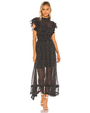 Платье макси с поясом шифоновое Elliatt