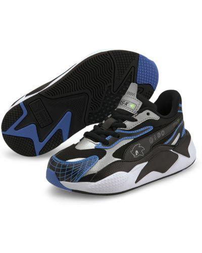 Спортивные черные текстильные кроссовки беговые сетчатые Puma