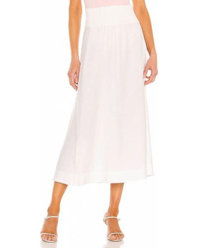 Biała ciepła spódnica z wiskozy Brochu Walker