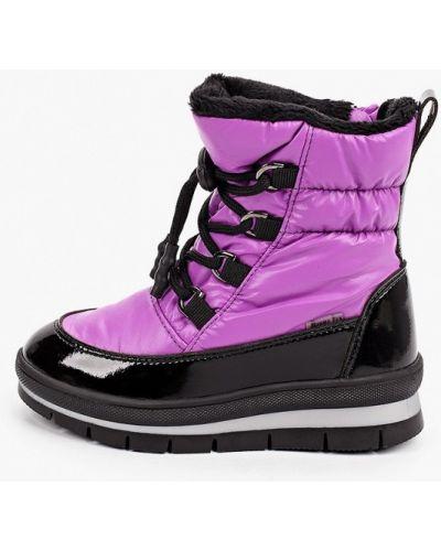 Фиолетовые кожаные дутики Jog Dog