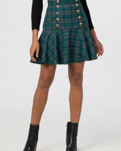 Зеленая юбка свободного кроя Lmp