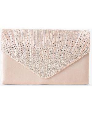Różowa kopertówka elegancka z paskiem Apriori