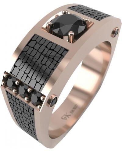 Кольцо с фианитом - черное Graf кольцов