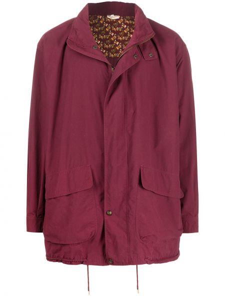 С рукавами красный пиджак оверсайз на молнии Salvatore Ferragamo Pre-owned