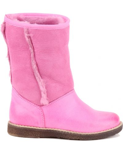 Сапоги розовый кожаный Gallucci