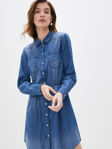 Джинсовое платье синее весеннее Jacqueline De Yong