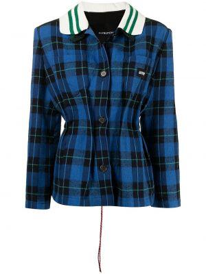 Niebieska kurtka z printem Pushbutton