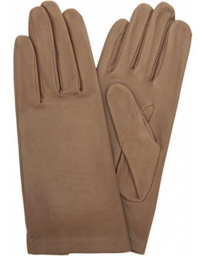 Бежевые перчатки демисезонные Agnelle