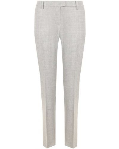 Укороченные шерстяные брюки со стрелками Windsor