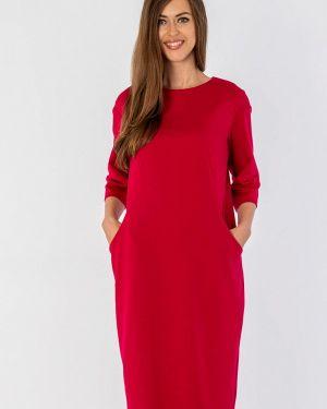 Повседневное платье красный осеннее S&a Style