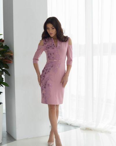 Вечернее платье пудровое Odis