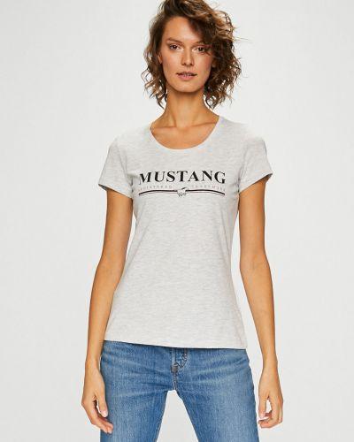 Серая футболка прямая Mustang
