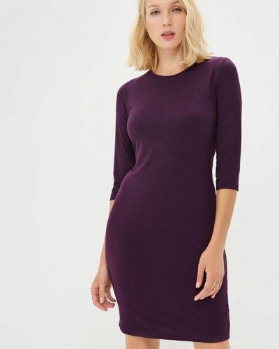 Вязаное платье осеннее фиолетовый Befree