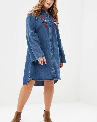 Джинсовое платье осеннее синее Lost Ink Plus