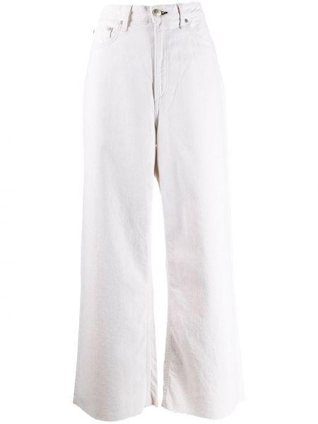 Широкие джинсы с завышенной талией - белые Rag & Bone/jean