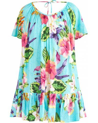 Пляжное платье с оборками с вырезом Mc2 Saint Barth