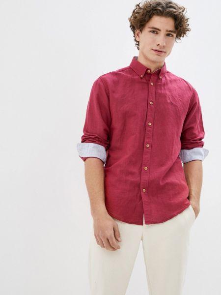 Рубашка с длинным рукавом бордовый красный Springfield