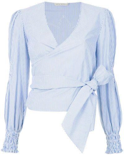 Блузка с длинным рукавом кружевная в полоску Martha Medeiros