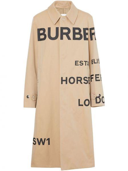 Bawełna klasyczny klasyczny płaszcz z kieszeniami z kołnierzem Burberry