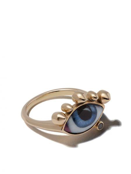 Złoty pierścionek z diamentem Lito