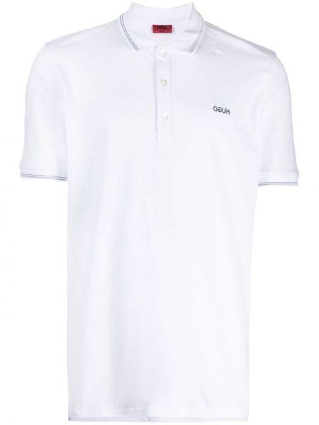 Белая рубашка с короткими рукавами с воротником Boss Hugo Boss