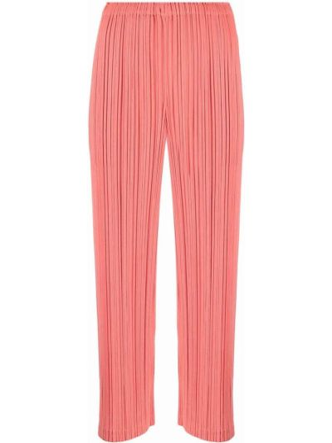 Укороченные брюки - красные Pleats Please Issey Miyake