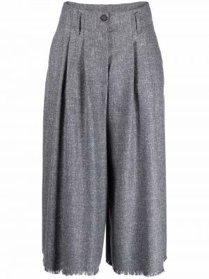 Серые брюки расклешенные Antonelli