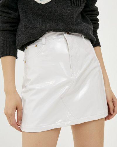 Белая кожаная юбка Chiara Ferragni Collection