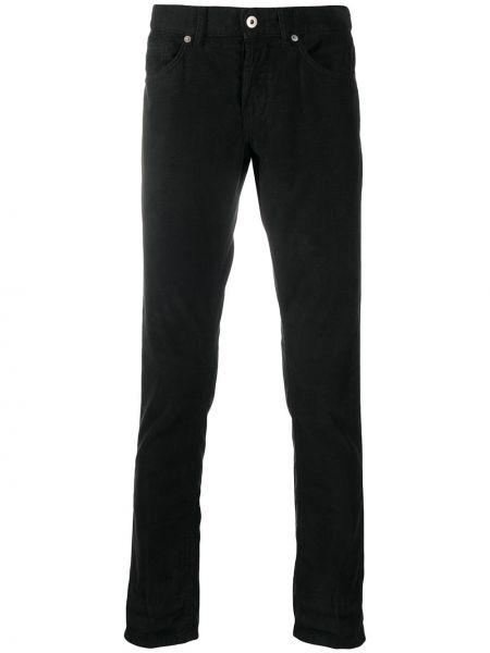 Spodni bawełna czarny klasyczne spodnie rozciągać Dondup