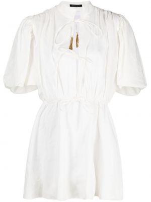 Расклешенное белое платье мини с короткими рукавами Wandering
