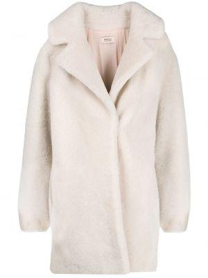 Пальто с капюшоном из овчины свободного кроя Yves Salomon Meteo