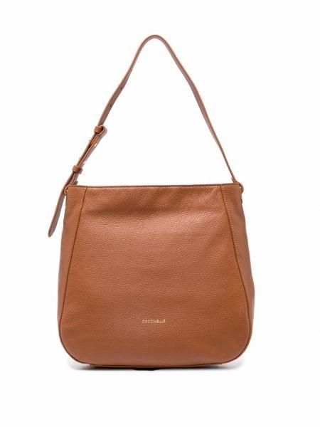 Коричневая сумка на молнии Coccinelle