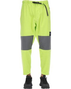 Żółte spodnie klamry z paskiem Poliquant