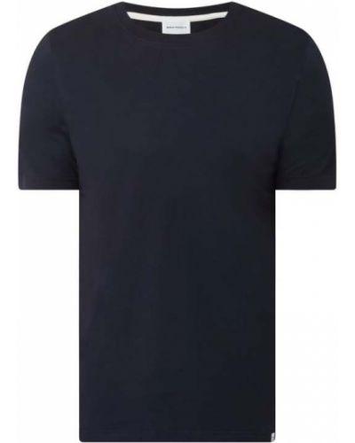 Niebieski t-shirt bawełniany Norse Projects