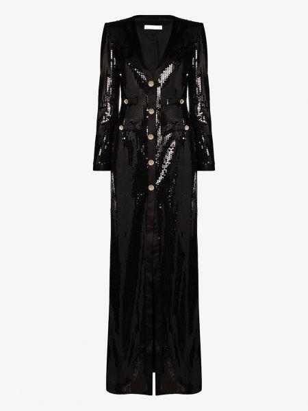 Шелковое платье макси - черное Alessandra Rich