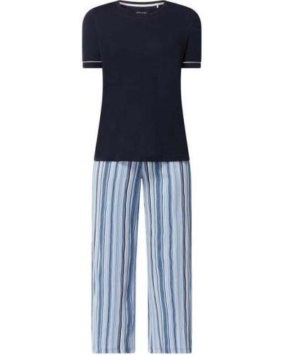 Spodni piżama bawełniana krótki rękaw w paski Seidensticker
