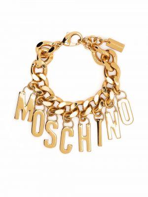 Złota bransoletka łańcuch Moschino