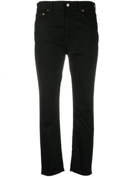 Bawełna bawełna jeansy na wysokości z kieszeniami z ozdobnym wykończeniem Acne Studios