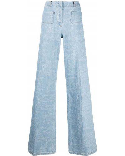 Широкие джинсы с завышенной талией - черные Giambattista Valli