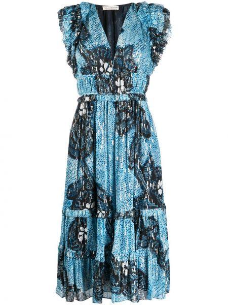 Платье миди с V-образным вырезом на молнии Ulla Johnson