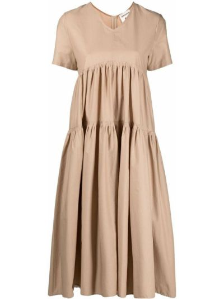 Sukienka mini rozkloszowana krótki rękaw safari Semicouture