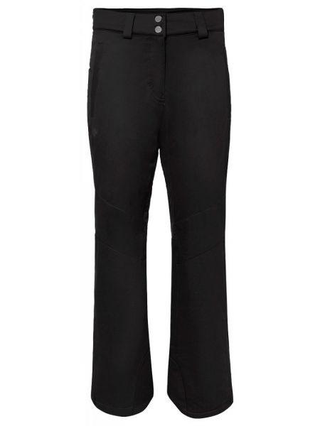 Черные зауженные теплые спортивные брюки на тинсулейте Descente