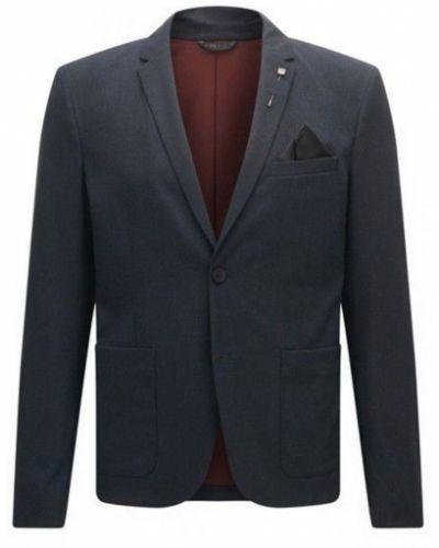Bawełna niebieski bawełna kurtka jeansowa Hugo Boss