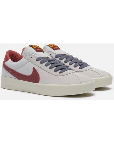 Серые кожаные кроссовки с подкладкой Nike Sb