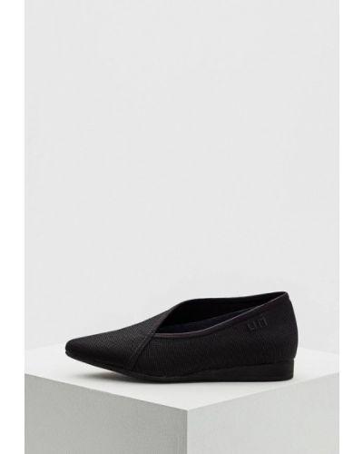 Черные туфли для офиса United Nude